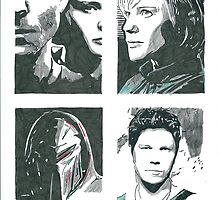 Battlestar Galactica Character Compilation One by chrisjh2210