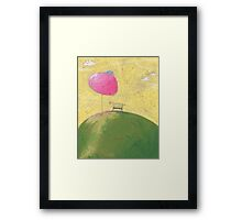 The bench under the cherry tree. Framed Print