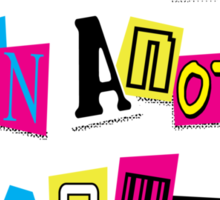 PRINCESS RANSOM NOTE Sticker
