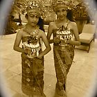 Balinese Dancers at Tuban by Faye Masters