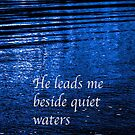 He leads me beside quiet waters iPhone Case by Jeff Johannsen