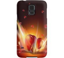 Romantic Burning Hearts  iPhone 5 Case / iPhone 4 Case  Samsung Galaxy Case/Skin