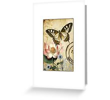 Lotus and Butterfly Greeting Card