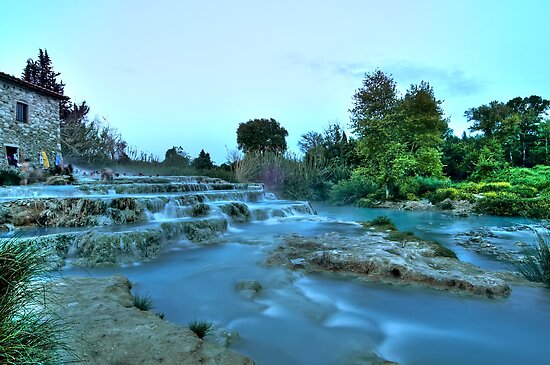 Gorello and Mulino Waterfall  (Hot Springs) by paolo1955