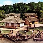 Congo village by goldyparazi