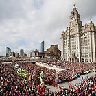Liverpool - Sea Odyssey - Giant Spectacular - Little Girl Giant at Pier Head - Crowd in front of Liver Building by Fotopia