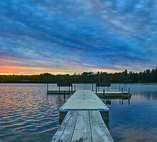 Spring Sunset at the Lake by Megan Noble
