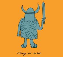 Vikings are brave drawing with text by DiabolickalPLAN