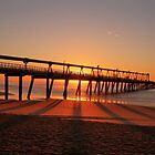 Sand pumping pier at sunrise by Mark Bilham