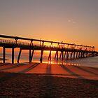 Sand pumping pier at sunrise by Mark Bilham