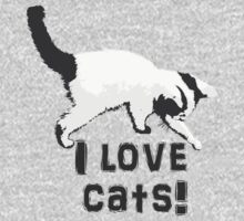 I love cats! (Black & White) by Angomango