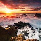 Sunset Cape Foulwind, West Coast by Francis Carmine