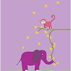 The Monkey and the Elephant #2 by Belle Farley