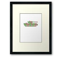 PIXEL8 | Army Tank | Camo Framed Print