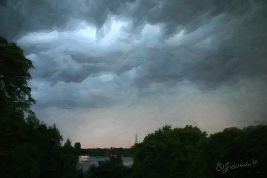 Stormy Skies 01 by Karen  Securius