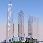 New World Trade Center rendering by LakePark