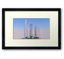 New World Trade Center rendering Framed Print