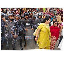 Crowd control, Kathmandu Poster