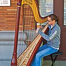 Harpist at Circle Square by Bryan D. Spellman