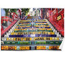 Escadaria Selaron Poster