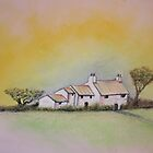 Cottage with Pastels by dangerpowers123