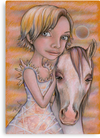 Europa and Snowflake by tanyabond