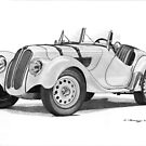 BMW 328 Roadster (1936) by Steve Pearcy