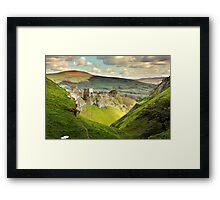 Peveril Castle, Castleton Framed Print