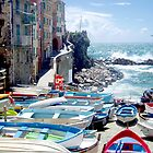 The little harbour of Riomaggiore by Arie Koene