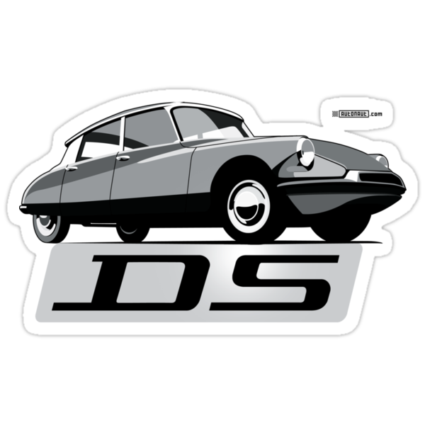 Citroën DS script emblem and illustration by Robin Lund