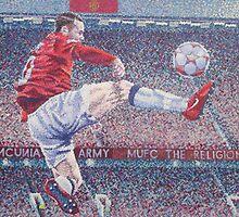 Wayne Rooney in Flight by kaczmarczyk
