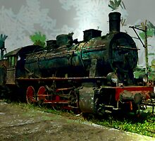 Old Steam Engine at It's Final Station by Dennis Melling