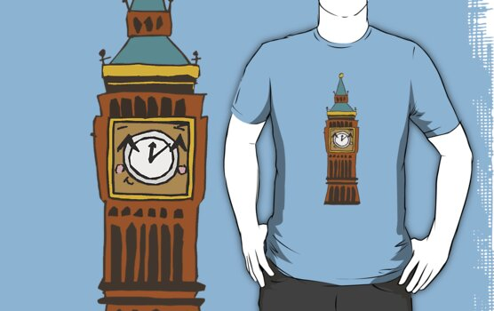 Cute Big Ben Tee by Zozzy-zebra