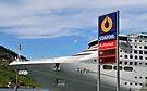 P&O cruise ship Oceana docked in Olden, Norway.  When you've got to fill up, you just have to stop where you can... by buttonpresser