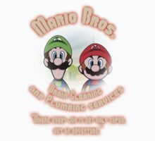 Mario Bros. Drain Cleaning & Plumbing Service Kids Clothes