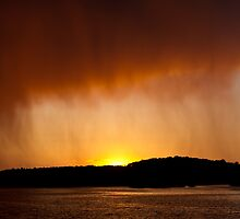 Rainy Sunset by Tom Gotzy