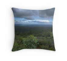 Mt Dale, View from the top, panorama HDR Throw Pillow