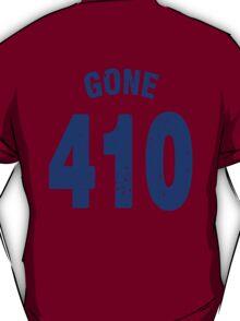 Team shirt - 410 Gone, blue letters T-Shirt