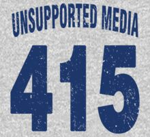 Team shirt - 415 Unsupported Media, blue letters Kids Clothes