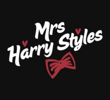 Mrs Harry Styles - in white & red by Adriana Owens