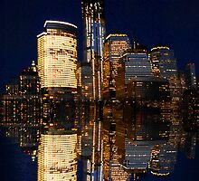 Reflections of The Freedom Tower and down town Manhattan by TheBrit