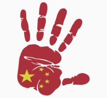 Hand print of flag of China by nadil