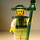 Ching Dynasty Chinese Warrior Custom Minifigure with Trans Green Armour iPod iPhone Case by &#x27;Customize My Minifig&#x27; by Chillee