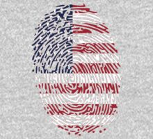 Flag of United States of America Thumbprint by nadil