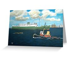 Munster and Fighting Cock pass in the Mersey Greeting Card