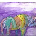 Purple Rhino by doryd