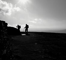 Walkers descending Whernside by Paul Bettison
