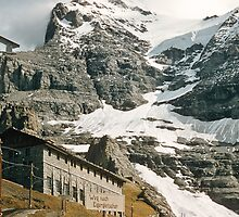 The entrance to Mount Eiger seen from train at Kleine Scheidegg 1957 09220024 by Fred Mitchell