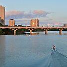 South Congress Bridge, Bat City & Ladybird Lake - Austin Texas by Jack McCabe