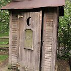 Old Antique Country Outhouse Bathroom  by CuteNComfy